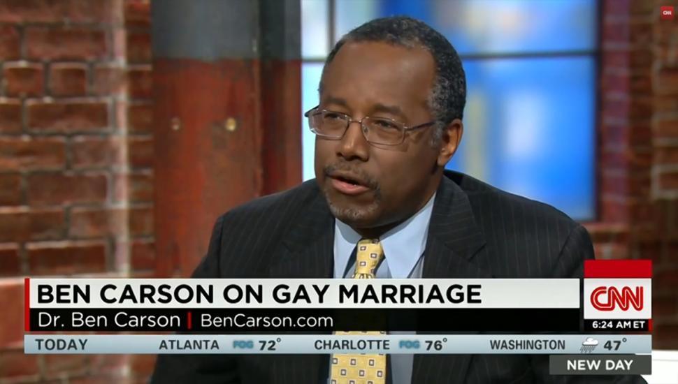 Ben carson gay marriage